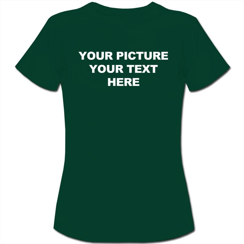 Personalised-Custom-Your-Picture-Your-Text-Womens-Ladies-T-Shirt